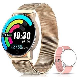NAIXUES Smartwatch, Reloj Inteligente IP67 con Presión Arterial, 10 Modos