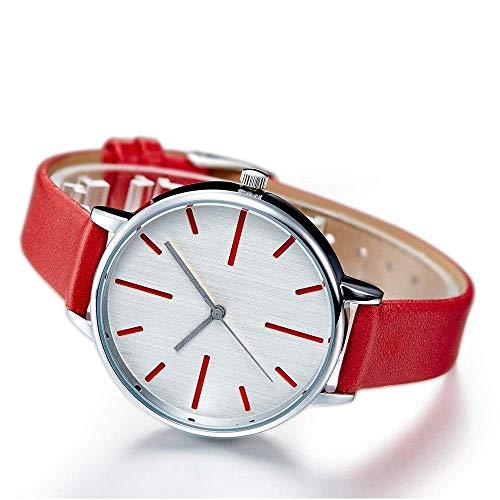 Thumby Praktische Polshorloges Vrouwen Eenvoudige Ultra-Dunne 8 Mm Quartz Horloge 36 Mm Imitatie Lederen Band Mode Horloge Pols Decoratieve Horloge Armband