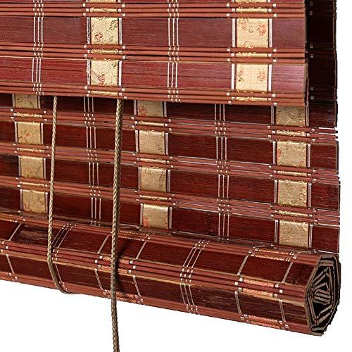Tende a Rullo di bambù con Valance, tonalità Romane, per Porte, finestre, cucine, Ufficio, Isolamento Termico e Coulisse di Sollevamento, Resistente alla Muffa ZHANGAIZHEN