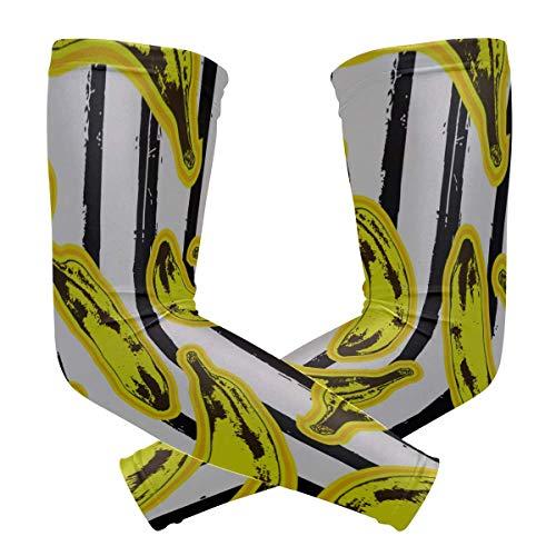 ENEVOTX - Camisas de manga larga para mujer, protección UV, diseño de arte pop con estampado de seda, para yoga, para niños, secado rápido y transpirable, mangas protectoras del sol unisex al aire libre, 2 unidades