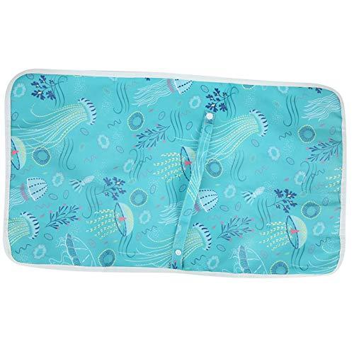 Algodón, lona, acolchado, cambiador de pañales para bebés, para cochecitos(Green jellyfish)