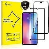 GiiYoon-2 Piezas Protector de Pantalla para Xiaomi Mi 9 Cristal Templado,[Sin Burbujas] [Cobertura Completa] [9H Dureza] Vidrio Templado HD Protector Pantalla para Xiaomi Mi 9