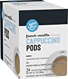 Amazon Brand - Happy Belly Cappuccino Coffee Pods Compatible with 2.0 K-Cup Brewers, French Vanilla Flavored, 24 Count
