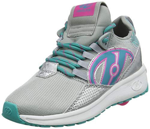 Heelys Mädchen Bandit Hohe Sneaker, Silber (Grey/Aqua/Hot Pink Grey/Aqua/Hot Pink), 32 EU