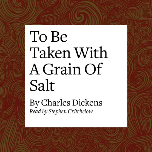 To Be Taken with a Grain of Salt audiobook cover art