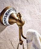 DAZYGZ Accesorios de Baño Set Conjunto De Accesorios De Baño De Cobre Antiguo Conjunto De Accesorios De Baño De Cobre Puro Conjuntos De Hardware De Baño Montados En La Pared Porcelana Y Latón