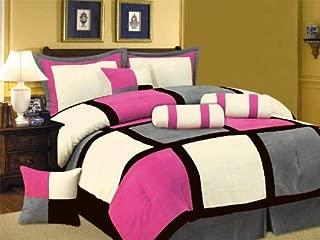pink black comforter