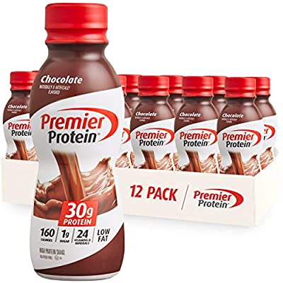 Premier Protein Shake 30g 1g Sugar 24 Vitamins Minerals Nutrients to Support Immune Health 11.5 Pack, Chocolate, 138 Fl Oz, (Pack of 12) from Premier Nutrition