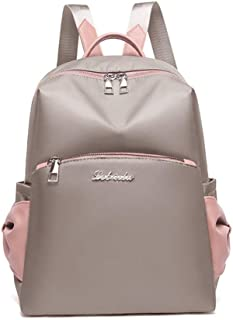 Fashion Simple Bow Backpack Travel School Shoulder Bag Daypack (Color : Khaki)
