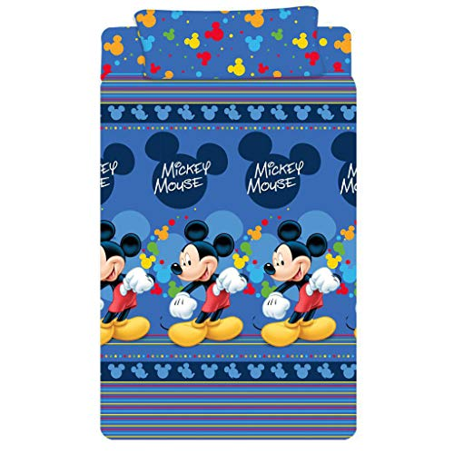 RAFITEXTIL Juego de sabanas Mickey Mouse DYSNEY para Cama de 105