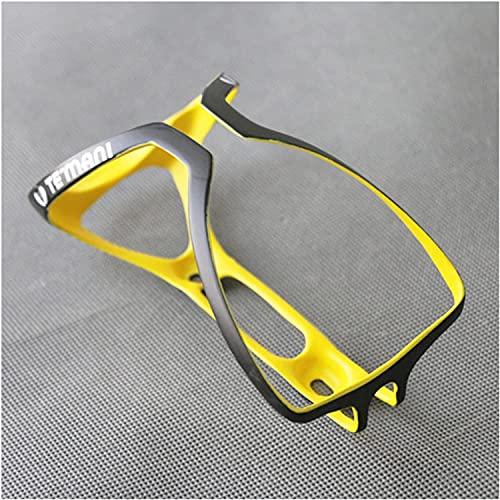 2PCS Full Carbon Bicycle Bottle Holder Ultralight 18g Road Bike/Folding/Mountain Bike Drink Water Bottle Cage Matte Multicolor (Color : Yellow)
