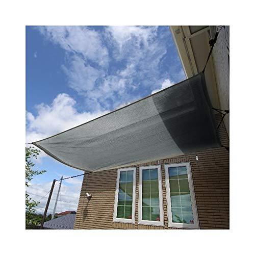 LRZLZY Cuerda de Tela Sombra sombreado Neto Sol Sombra Vela de protección Solar y protección UV con Gratuito al Aire Libre del Partido Patio Jardín, 12 Tamaños Respetuoso del Medio Ambiente