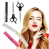 Hyhome Lot de 5 outils de coupe de cheveux professionnels à la maison pour les coupes de cheveux, les ciseaux professionnels, les franges