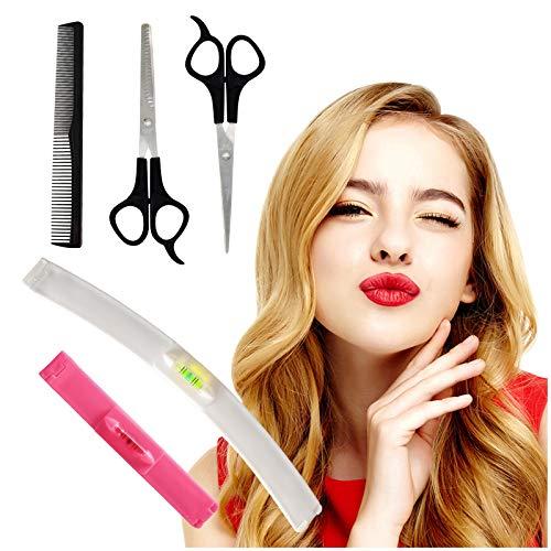 Hyhome - Juego de 5 herramientas de corte de pelo profesional para cortar el pelo, tijeras profesionales y flecos