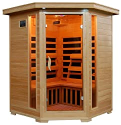 best infrared sauna for 3 people with lights on inside