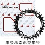32T Plato de Bicicleta 104 BCD Anillo de Cadena Sola Estrecho Ancho con 4 Pernos de Rueda Dentada para Bicicletas de Carretera Bicicletas de Montaña (Negro)