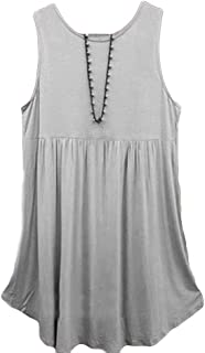 GOWOM Women Fashion Plus Size Vest Summer Sleeveless Cotton Tops Shirt Blouse