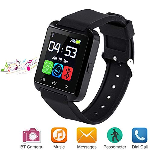 MDMMBB Bluetooth Smart Watch Compatiable for Android iOS Smartphone, Smartwatch with Pedometer Remote Camera Music Player Calls Reminder for Men Women Kids Children,U8 Smart Watch Phone