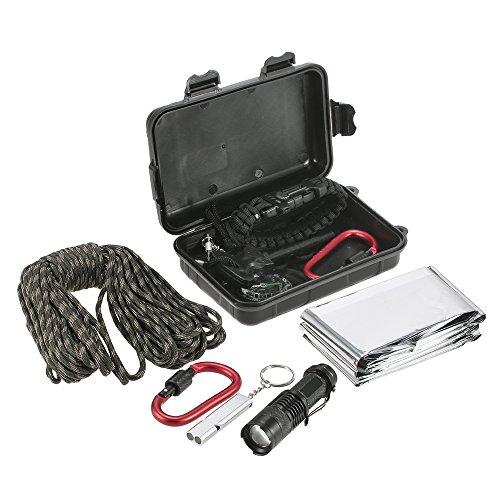 TOMSHOO 11 in 1 Outdoor Survival Kit Multi Purpose Emergency Equipment