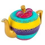 artvigor teiere caffettiere caraffe per tè e caffè in porcellana ceramica mela set da caffè tè per una persona colori misti oro rosa giallo azzurro viola 1000ml