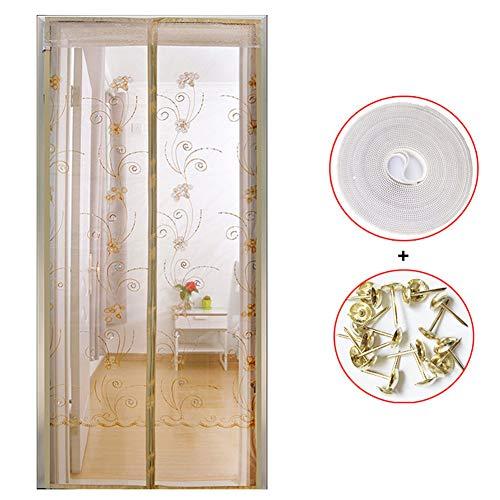 Lunch Box - Mosquitera magnética para puerta, cortina de mosquitera para puerta, con tiras magnéticas ultra silenciosas, evita la entrada de mosquitos, a, 90X230CM