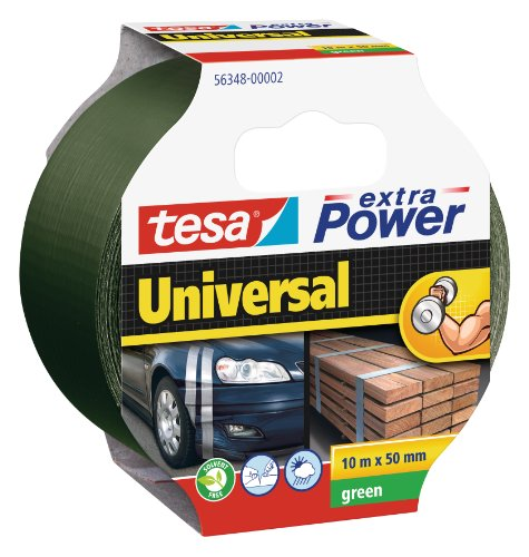 tesa 56348-00002-05 56348-00002-05-Cinta de Tejido con Malla Extra Power Universal Manchetta Serie 56348-10m x 50mm Verde, Standard