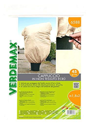 VERDEMAX 636588 Cappuccio Tessuto Non Tessuto 1,8 x 2 Metri, Ecru