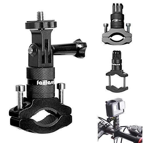 2in1 Action Camera Bike Mount, Aluminum Bike Handlebar Adapter 360 Degree...