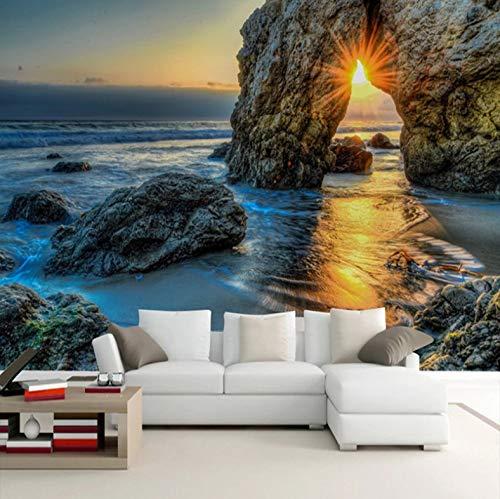 Tamaño Personalizable Papel Tapiz De Fotos En 3D Mar Puesta De Sol...