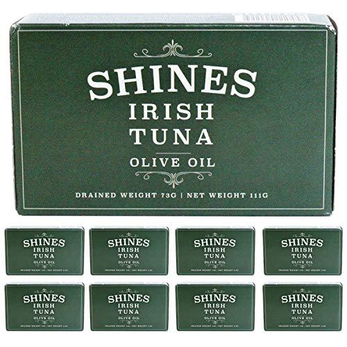 Shines Wild Irish Albacore Tinned Tuna in Olive Oil - Low Carb & High...
