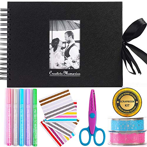 Scrapbooking Kit with 80 Pages Scrapbook Photo Album