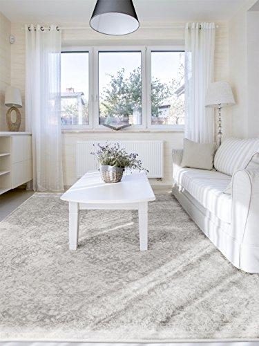 Benuta Vintage Teppich im Used-Look, Kunstfaser, Beige, 160 x 230.0 x 2 cm
