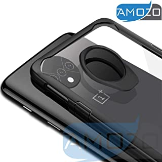 Amozo - Transparent Case with Soft Side Bumper, Inside Shock Proof Air Cushion for Drop Protection, Camera Protection Back Cover for OnePlus 7T / One Plus 7T (OnePlus 7T, Transparent Shock Proof Case)