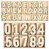 216 pcs juego de letras y números de madera de numero de madera letras mixta de madera a-z letras 0-9 números educativos tempranos juegos con bandeja de almacenamiento para diy niños juguetes craft