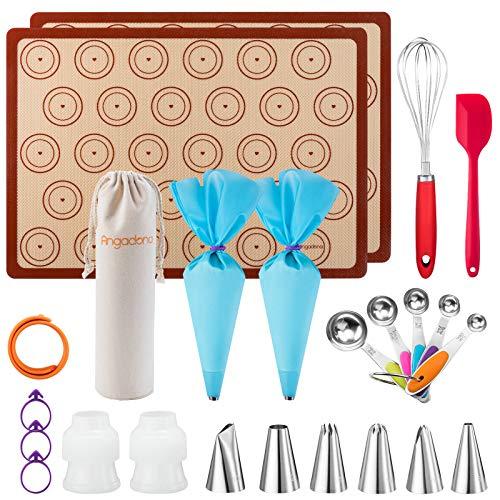 Macaron Kit Silicone Baking Mats - Macaron Baking Kit Suppliers Sheet Set for Beginners and Professionals