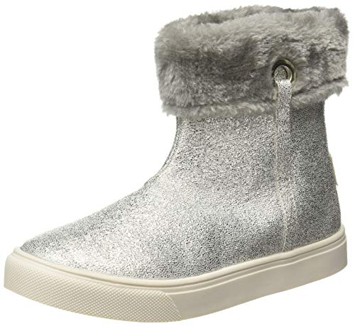 United Colors of Benetton Girl's Silver Boots-13 Kids UK EU (19A8SNEA6025G_902_32)