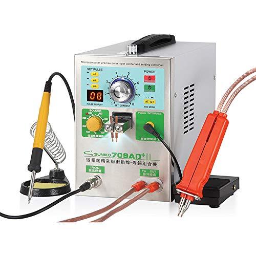 Hanchen Batterie Schweißgerät 3,8KW Akku Punktschweißgerät Hochleistungs-Automatik LED Pulse Spot Welder mit Lötkolben für 18650 22650 32650 Batterie 220V CE