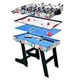 Fran_store Multi Combo Game Table, Folding Multi Game Combination Table Set with Soccer Foosball Table, Pool...