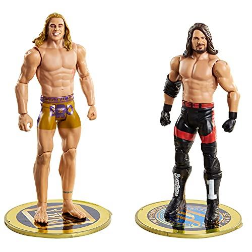 WWE Pack 2 figuras 11, muñecos articulados de juguete con accesorios (Mattel GVJ21)