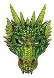 shoperama Kinnlose Drachen-Maske aus Schaumlatex Halloween Maske Karneval Dragon Mythologie Fabelwesen
