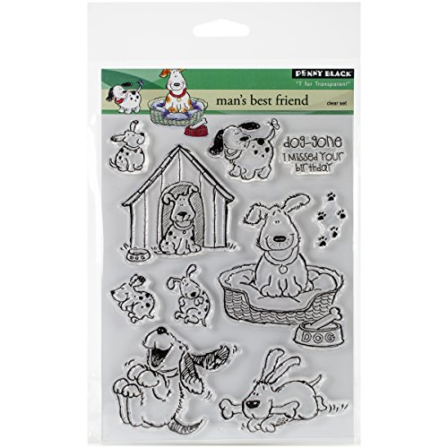 Penny Black Rubber Clear Stamps 12,7 cm x 6,5 Sheet-Man 's Best Friend