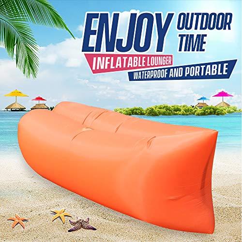 Festnight Opblaasbare lounge-sofa, Hammock, waterdicht, outdoor, slaapbank, strandstoel, draagbaar voor reizen, camping, hiking, zwembad