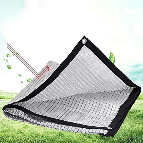 Lanrui 2mX4m Papel de Aluminio sombreado Neto Sun Reflect rectángulo paño de la Cortina con Ojales UV Resistente Neto 80% Tasa de sombreado (Tamaño: 4M × 4 M) Tamaño: 4M × 8M (Size : 2M×2M)