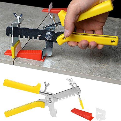 Tegelvloertang, set 801, nivelleringsysteem voor het leggen van tegels (600 clips + 200 wiggen)