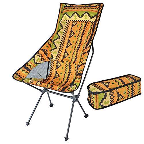 Eastbride Tragbarer Klappstuhl für den Außenbereich, verlängerter und langlebiger Campingcamping aus Aluminium, geeignet zum Wandern am Strand