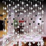 AKIMPE Crystal Glass Bead Curtain Luxury Living Room Bedroom Window Door Wedding Decor Colorful 3
