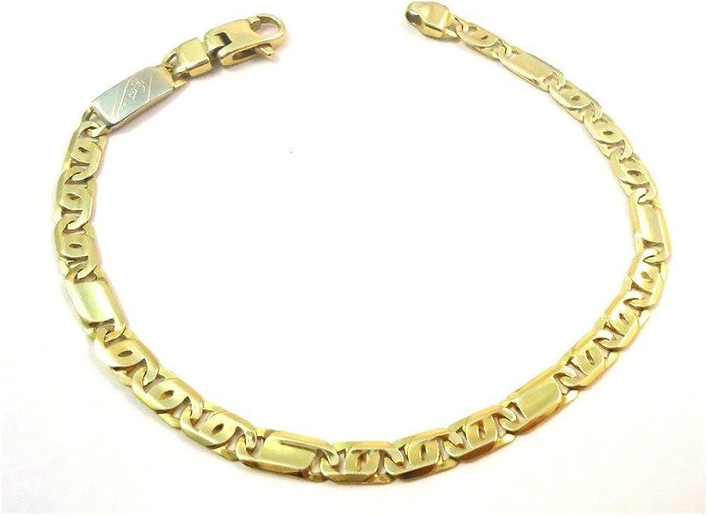 Bracciale da uomo in oro giallo e bianco 18 kt 4332-oro-g