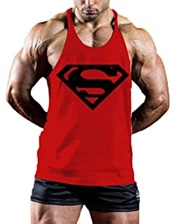 InleaderStyle Men's Bodybuilding S Logo Stringer Gym Tank Top