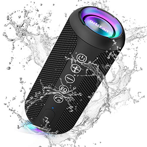 Ortizan Enceinte Bluetooth Portable Bluetooth 5.0 Enceinte sans Fil avec HD Bass 10, étanche IPX6,...