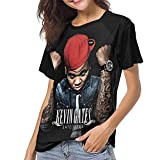 Photo de Kevin Come and Gates Come and Satellites T Shirt Woman Baseball Round Neck Short Sleeve T-Shirt